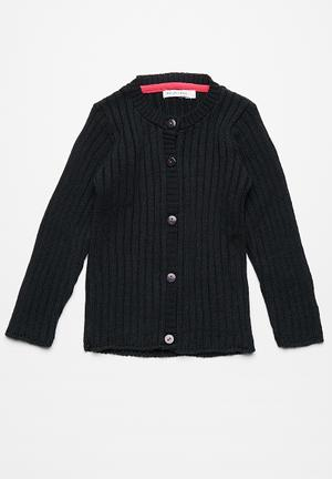 Dailyfriday Classic Ribbed Cardigan Jackets & Knitwear Navy