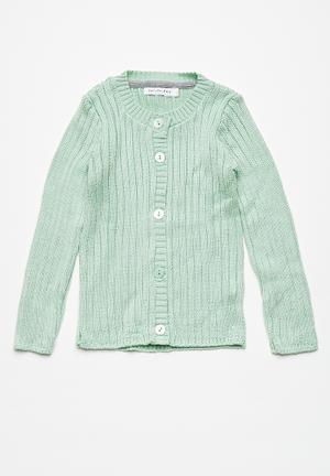 Dailyfriday Classic Ribbed Cardigan Jackets & Knitwear Mint Green