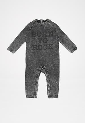 Cotton On Baby Noah Snap Romper Babygrows & Sleepsuits Black