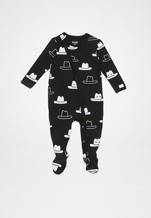 Cotton On Baby Mini Zip Through Romper Babygrows & Sleepsuits Black