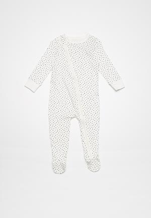 Cotton On Baby Mini Zip Footed Romper Babygrows & Sleepsuits White