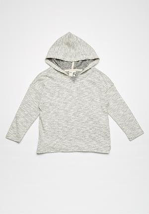 Cotton On Kids Seth Hooded Long Sleeve Tops Grey