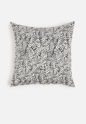 Grey Gardens Feathers Cushion Cover Cotton Sateen