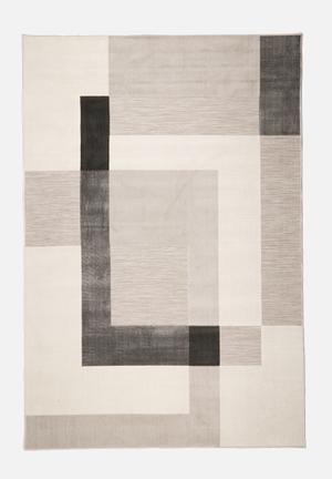 Hertex Fabrics Block Party Mist Indoor/outdoor Rug 100% Polypropylene
