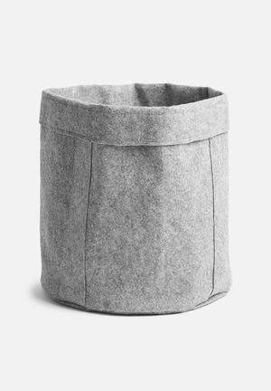 Sixth Floor Felt Laundry Basket Bath Accessories Felt 100% Polyester