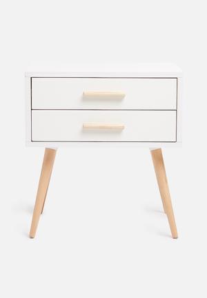 Sixth Floor Alva Pedestal Desks & Tables MDF Top, MDF Drawers, Solid Wood Legs