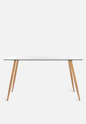 Sixth Floor Vera Dining Table Glass & Wood