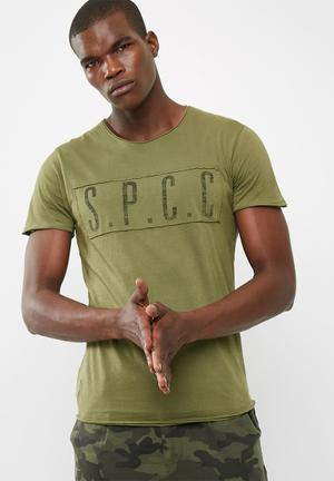 Sergeant Pepper SPCC Panel Raw Edge Tee T-Shirts & Vests Olive Green