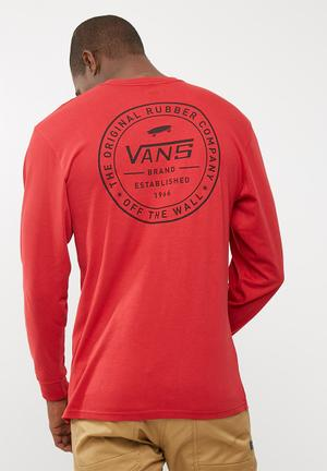 Vans Established 66 Tee T-Shirts & Vests Red & Black