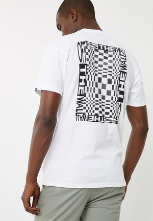 Vans New Checker Tee T-Shirts & Vests White & Black