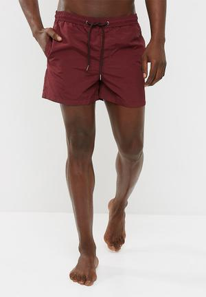 Jack & Jones Sunset Swim Shorts Swimwear Burgundy