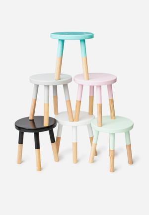 Simply Child White Play Stool Furniture MDF & Pine