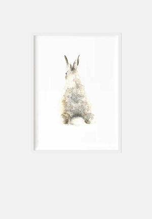 Simply Child Watercolour Bunny Back Decor Printed On 170gsm High-quality Watercolour Paper
