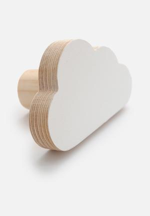 Simply Child Cloud Wall Hook Decor Birch Plywood And Pine
