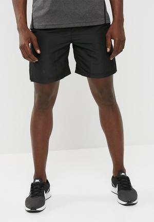 Basicthread Mesh Panel Shorts Black