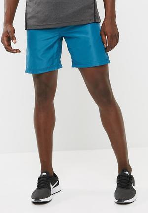 Basicthread Mesh Panel Shorts Blue