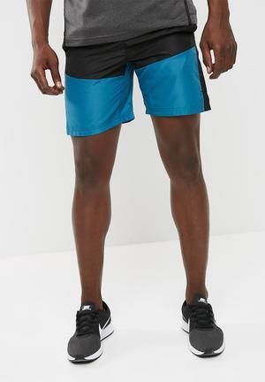 Basicthread Mesh Panel Blocked Shorts Blue & Black