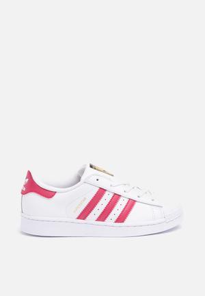 Adidas Originals Kids Superstar C Shoes White/pink/white
