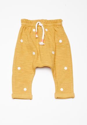 Cotton On Baby Alison Mini Pant Mustard