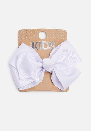 Cotton On Kids Big Bow Clips Accessories Lilac