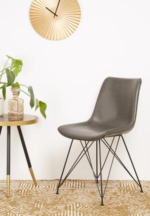 Sixth Floor Beja Dining Chair PU Seat And Steel Frame