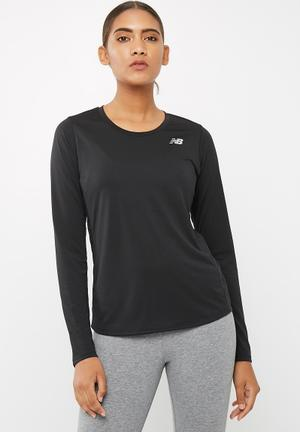 New Balance  Accelerate Long Sleeve Top T-Shirts Black
