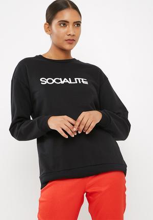 Dailyfriday Socialite Sweat Top Black