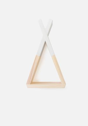 Simply Child Teepee Wall Shelf Furniture Pine With MDF Dip