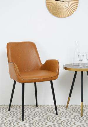 Sixth Floor Balti Dining Chair PU Seat And Steel Frame