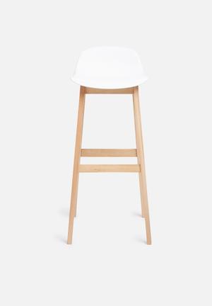 Sixth Floor Jenson Barstool PP Seat And Beech Wood Legs