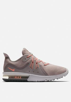 Nike Air Max Sequent 3 Running Sneakers Atmosphere Grey / Crimson Pulse / Hot Punch