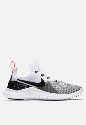 Nike Free TR 8 Trainers White/Black - Total Crimson/White