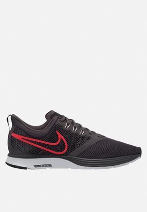 Nike Zoom Strike Running Trainers Thunder Grey/Bright Crimson-Black