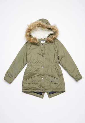 Cotton On Kids Genie Anorak Jackets & Knitwear Khaki