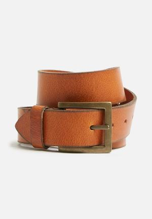 Basicthread Brian Leather Belt Tan