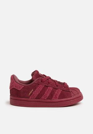 Adidas Originals Kids Superstar I Shoes Burgundy