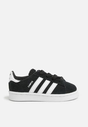 Adidas Originals Kids Campus  EL I Shoes Black & White