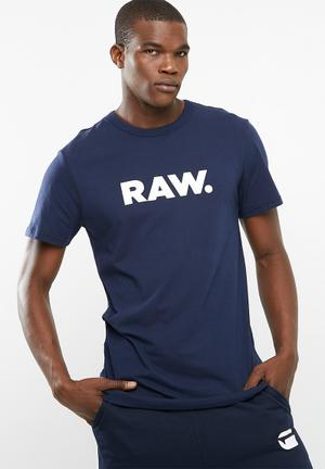 G-Star RAW Holorn Tee T-Shirts & Vests 100% Cotton