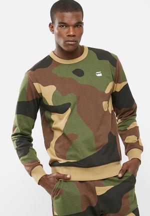 G-Star RAW Odc Stalt Camo Crew Sweat 60% Cotton 40% Polyester