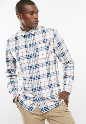 Jack & Jones Fresh Loose Fit Shirt Cream, Red & Blue