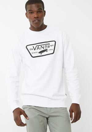 Vans Full Patch Crew Top Hoodies & Sweats White & Black