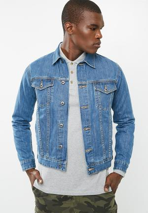 Basicthread Basic Denim Trucker Jacket Blue