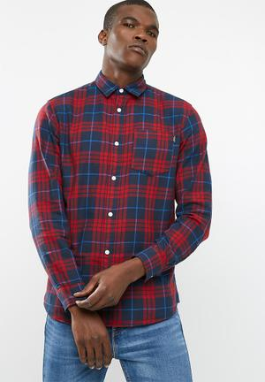 Jack & Jones Fresh Loose Fit Shirt Red & Navy