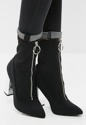 38b7920fb Alpha mid heel ankle boot. By Public Desire R799. Quick View. Sceptic zip  front ankle boot
