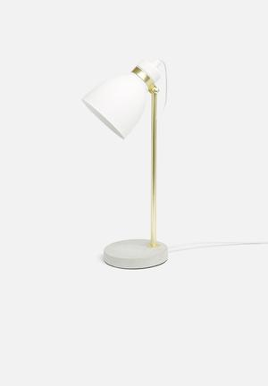 Illumina Alek Cement Table Lamp Lighting Metal And Cement