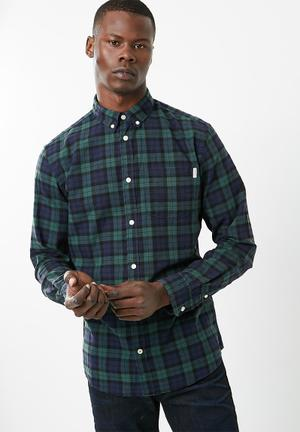 Jack & Jones Silver Loose Fit Shirt Navy & Green