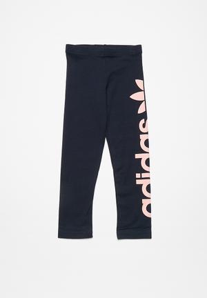 Adidas Originals Kids J Leggings Pants & Jeans Navy & Pink