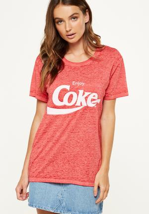 Cotton On Tbar Fox Graphic T-shirt Red
