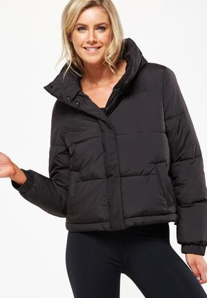 Cotton On Explorer Puffer Jacket Black