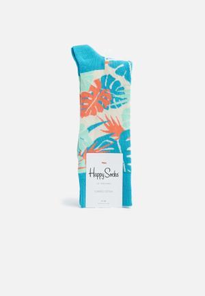 Happy Socks Jungle Socks Light Blue, Cream, Light Green, Orange